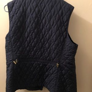 Women's Quilted Vest - navy blue